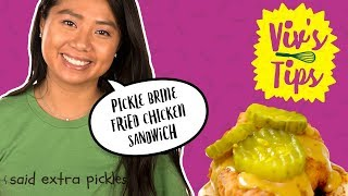 Pickle Brine Fried Chicken Sandwich | VIV'S TIPS - FOODNETWORKTV