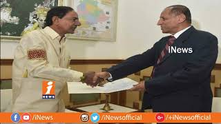 CM KCR Meets Governor Narasimhan On Telangana Assembly Dissolution at Raj Bhavn | iNews - INEWS