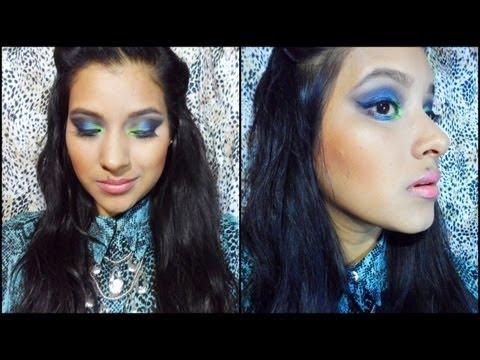 Tutorial de Maquillaje verde, azul oscuro y café con la paleta de 252 colores de Coastal Scents