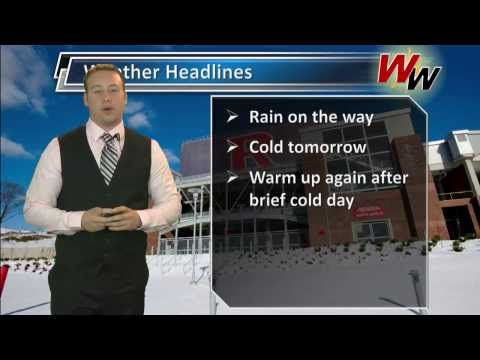 Wednesday, March 12th afternoon forecast