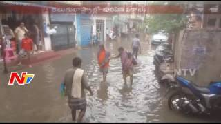Heavy Rains in Telugu States || Hyd People Face Traffic Problem || NTV - NTVTELUGUHD