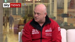 Ross Kemp discusses 'Walking Home for Christmas' charity project for veterans - SKYNEWS