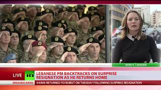 On Hold: Lebanese PM backtracks on surprise resignation as he returns home - RUSSIATODAY