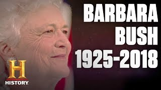 Barbara Bush: In Memoriam  (1925-2018) - First Lady and First Mom | History - HISTORYCHANNEL