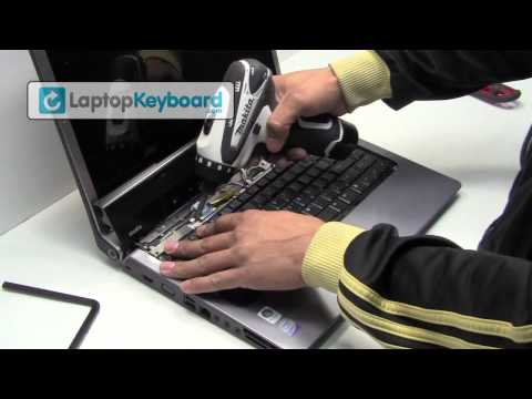 Dell Studio 1535 1537 Laptop Keyboard Installation Replacement Guide - Remove Replace Install