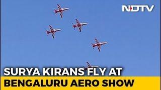 Watch Surya Kiran Team's Spectacular Air Show In Bengaluru - NDTV