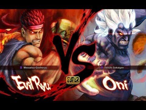SSF4 AE - Evil Ryu vs Oni (HD 1080p)