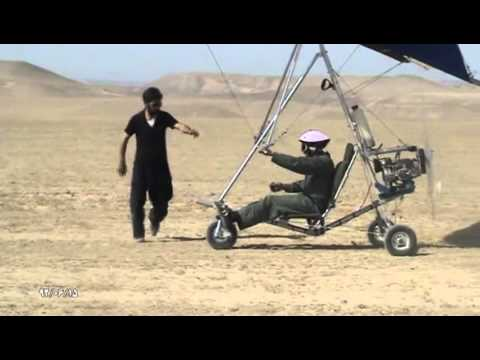home made hang glider trike by Hassan Afhami from Iran First flight