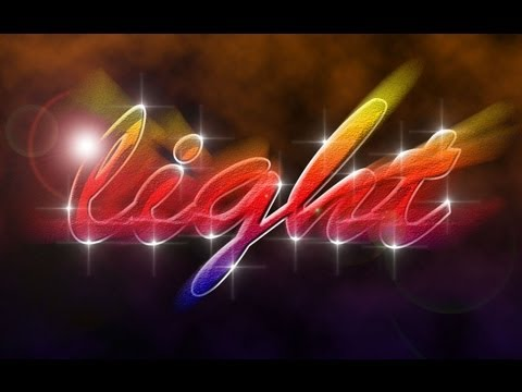 Photoshop CS6: Light Text Effect
