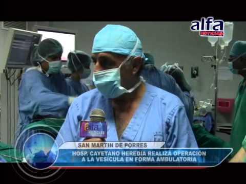 ALFA NOTICIAS - HOSPITAL CAYETANO REALIZA OPERACIÓN A LA VESÍCULA DE FORMA AMBULATORIA