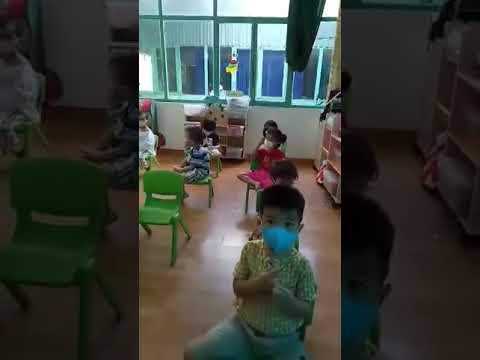 Lớp Mầm học rửa tay, sử dụng khẩu trang
