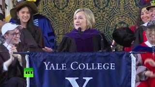 'If you can't beat them, join them': Clinton pulls out Russian hat during Yale speech - RUSSIATODAY