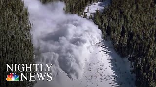 Skier Dies In Avalanche Outside Aspen | NBC Nightly News - NBCNEWS