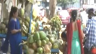 Hyderabad: Onset of summer boosts coconut water sale - TIMESOFINDIACHANNEL