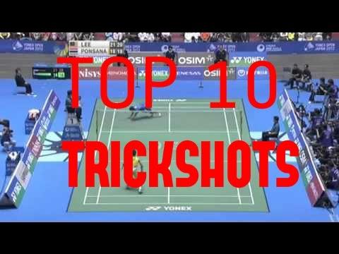 BADMINTON TOP 10 TRICKSHOTS
