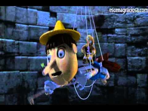 Escena Graciosa de ''Shrek 2''- Tanga Roja de Pinocho
