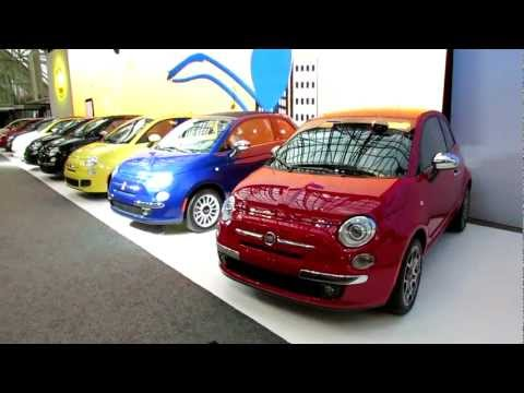 2012 Fiat 500 Colour Line-up at 2012 Toronto Auto Show - Canadian International AutoShow CIA