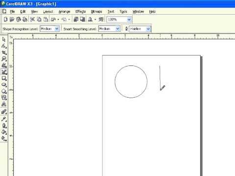 """CorelDraw X3 Tamil Tutorial """"Smart Drawing Tool"""" Part 010"""