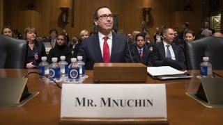 "Senators try and fail to pronounce ""Munchin"" - CNN"