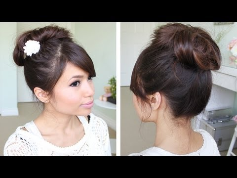 Messy Hair Bun Without Using Bobby Pins | Hair Tutorial