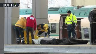 Aftermath of deadly train crash in Turkey that left 9 killed, 47 injured - RUSSIATODAY