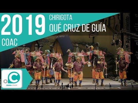 La agrupación Qué cruz de guía llega al COAC 2019 en la modalidad de Chirigotas. Primera actuación de la agrupación para esta modalidad.