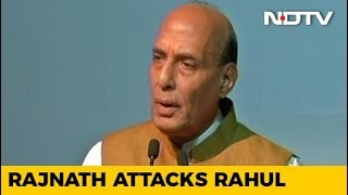 """BJP Trying To Douse Fire """"Lit By Congress"""", Says Rajnath Singh - NDTV"""