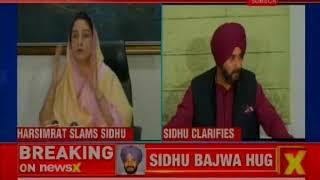 Harsimrat Kaur Badal slams Navjot Singh Sidhu for hugging Bajwa in Pakistan, Sidhu clarifies - NEWSXLIVE