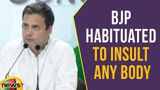 BJP Habituated To Insult Any Body, Says Rahul Gandhi   Insulted National Anthem   Mango News - MANGONEWS