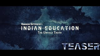 Indian Education The Untold Truth || Telugu Sci-Fi Short Film Teaser || By Himanshu Gottiparthi - YOUTUBE