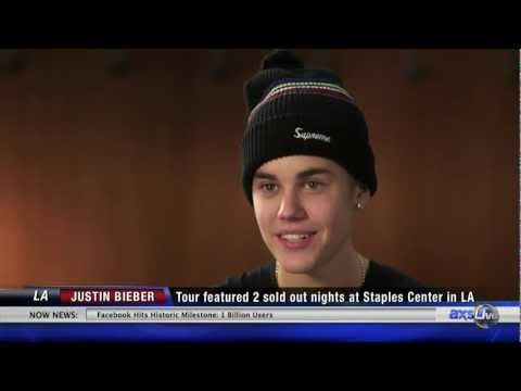 Justin Bieber Backstage Exclusive on AXS TV