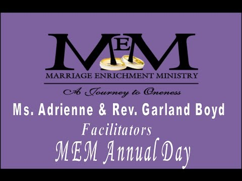 Marriage Enrichment Ministry Annual Day