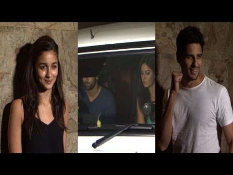 Ranbir, Katrina & Alia At 'Brothers' Special Screening