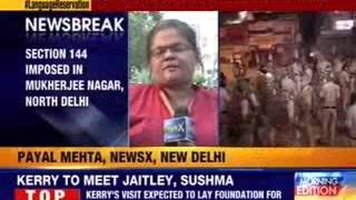 Section 144 imposed in Mukherjee Nagar, North Delhi - NEWSXLIVE