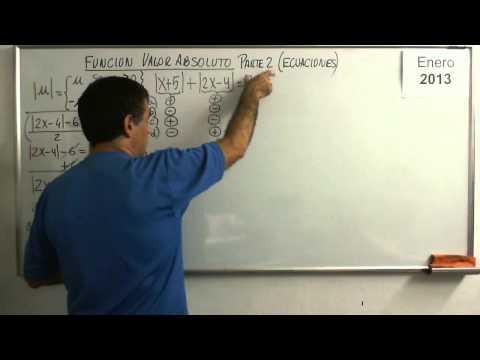 Funcion Valor Absoluto Parte 2 Ecuaciones