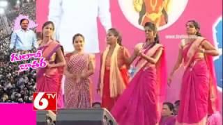 పాటలతో హోరెత్తిన తెలంగాణ బహిరంగ సభ   Warangal TRS Public Meeting 2017   6TV - 6TV