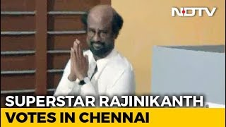 Rajinikanth Votes In Chennai In Second Phase Of Lok Sabha Elections - NDTV