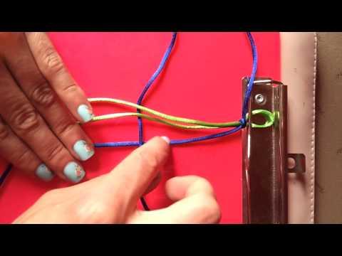 Cómo hacer una pulsera con nudo macramé - Nudo macramé para pulsera