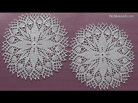 Crochet How to crochet doily Part 5  15   17 round  Crochet doily rug tutorial