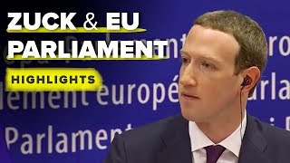Zuckerberg EU Parliament highlights - CNETTV