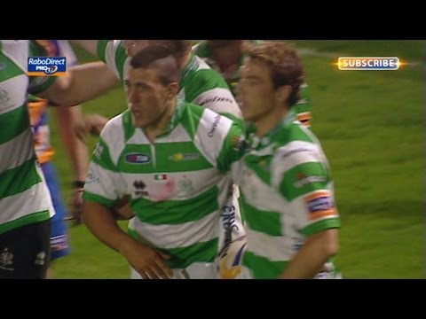 Edoardo Gori try from blockdown puts Treviso ahead - Benetton Treviso v Connacht 26th Apr 2013