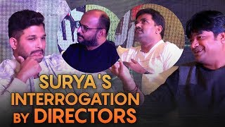 Surya's interrogation by directors | Allu Arjun interview with Harish Shankar, Maruthi, VI Anand - IGTELUGU