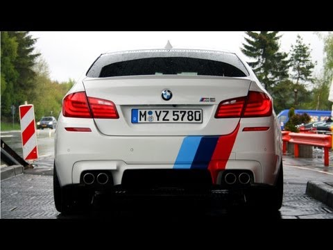 BMW M5 F10 Ring-Taxi In Action on Track! Sounds! 1080p HD!