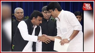 SP President Akhilesh Yadav Thanks Raja Bhaiya For The Vote Via Tweet - AAJTAKTV