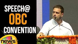 Rahul Gandhi Addresses Convention Of Other Backward Classes In New Delhi | Mango News - MANGONEWS