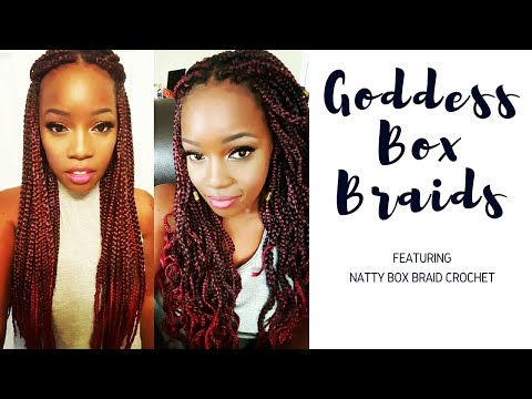 CROCHET BRAIDS || NATTY GODDESS BOX BRAIDS!