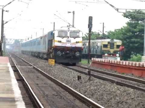 New JalpaiGuri Shatabdi Express Molests An EMU..!!
