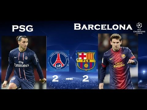 PSG 2-2 Barcelona | Goals & Highlights| 02/04/2013,MESSI / ZLATAN