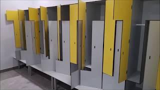 Локеры шкафы и шкафчики HPL антивандальные для раздевалок