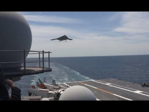 US Navy - X-47B UCAS First Carrier-Based Launch From USS George H.W. Bush (CVN 77) [1080p]